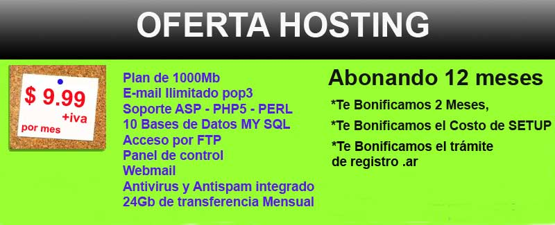 Oferta de Hosting para clientes nuevos